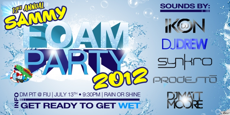 INFO Sammy Foam Party Flyer 2012